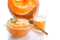 Boiled pumpkin with rice and honey Stock Photography