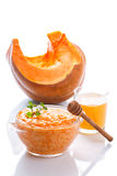 Boiled pumpkin with rice and honey Royalty Free Stock Photos