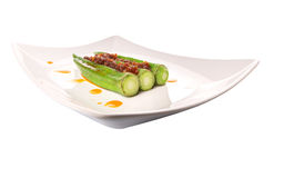 Boiled Raw Okra With Sambal V Royalty Free Stock Images