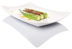 Boiled Raw Okra With Sambal X Stock Photos