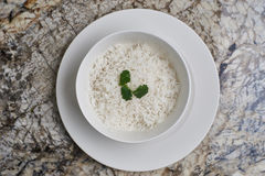 Boiled rice in a bowl Royalty Free Stock Images