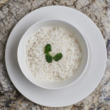 Boiled rice in a bowl Royalty Free Stock Image