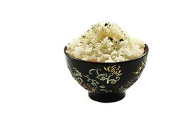 Boiled rice in ceramic ware Royalty Free Stock Photography