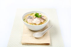 Boiled rice fish in a bowl Royalty Free Stock Photos
