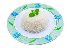Boiled rice. Image of boiled rice isolated on white background Royalty Free Stock Photos