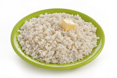 Boiled rice in plate Royalty Free Stock Photography