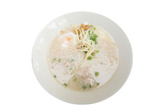 Boiled rice pork thai style breakfast Royalty Free Stock Photos