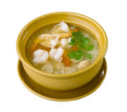 Boiled rice with shrimps Stock Photography