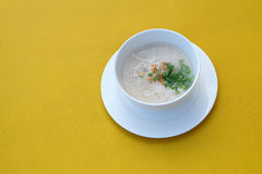 Boiled rice soup with chicken Royalty Free Stock Photography