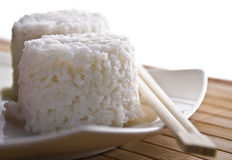 Boiled rice with sticks Stock Photography