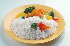 Boiled Rice with Vegetables Royalty Free Stock Photography