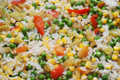 Boiled rice with vegetables Royalty Free Stock Images