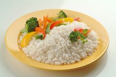 Boiled Rice with Vegetables Royalty Free Stock Image