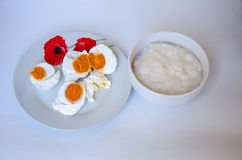 Boiled salt egg Royalty Free Stock Image