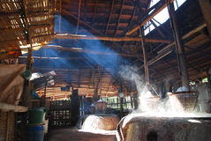 Boiled salt. On moutain zone in Pour Distric, Nan, Thailand Stock Photography