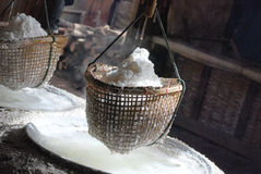 Boiled salt. On moutain zone in Pour Distric, Nan, Thailand Royalty Free Stock Images