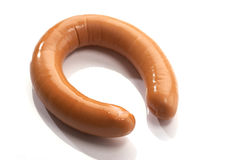 Boiled sausage Stock Image