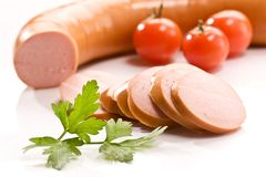 Boiled sausage Royalty Free Stock Photo