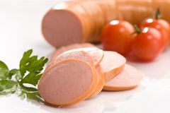 Boiled sausage Royalty Free Stock Image