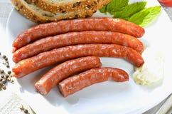 Boiled sausage Stock Photo