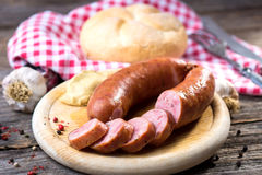Boiled sausages Royalty Free Stock Photo