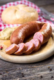 Boiled sausages Stock Image