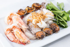Boiled seafood Royalty Free Stock Images