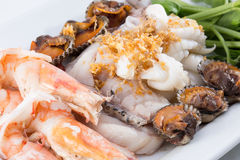 Boiled seafood Royalty Free Stock Photos