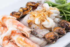 Boiled seafood Royalty Free Stock Photo