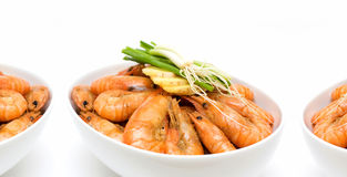 Boiled shrimp Stock Images