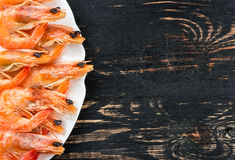 Boiled shrimp in a bowl Stock Photography