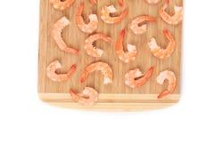 Boiled shrimp close-up. Royalty Free Stock Photos