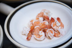 Boiled shrimp for cooking Royalty Free Stock Photos