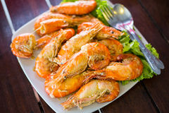 Boiled shrimp Stock Photo