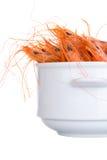 Boiled shrimp isolated on white Royalty Free Stock Photo