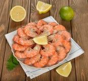Boiled shrimp Royalty Free Stock Image
