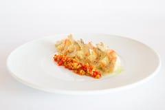 Boiled shrimp Stock Images