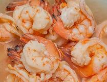 Boiled shrimp Stock Photos