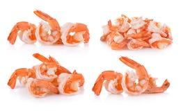 Boiled shrimp on white background Royalty Free Stock Image
