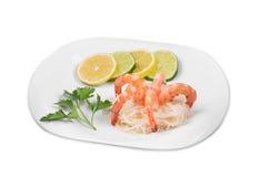 Boiled shrimps Stock Image