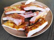 Boiled-smoked ribs Royalty Free Stock Photo