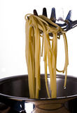 Boiled spaghetti Stock Photo