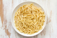 Boiled spaghetti Stock Images