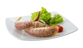 Boiled Spiny lobster Royalty Free Stock Images