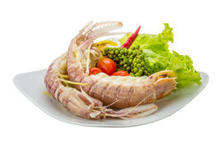 Boiled Spiny lobster Royalty Free Stock Photos