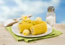 Boiled Sweet Corn Royalty Free Stock Images