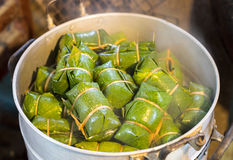Boiled sweets bundle. Boiled sweets wrapped bundle in a steam autoclave, which is a popular rural folk of Thailand Stock Images