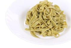 Boiled tagliatelle pasta. Stock Photo