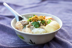 Boiled tofu with minced pork. Stock Images