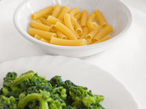Boiled turnips and pasta. Stock Photo